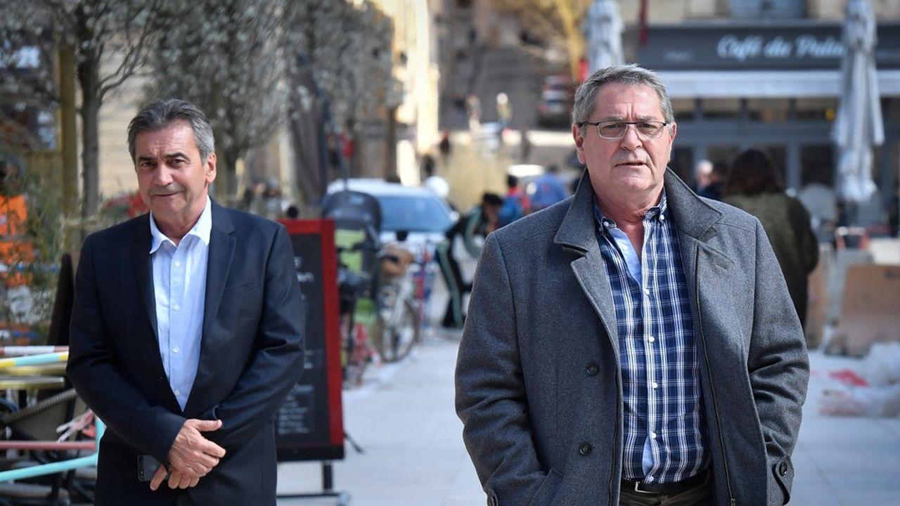 Les pilotes Bruno Odos (à gauche) et Pascal Fauret (à droite) ont été condamnés à 6 ans de prison.