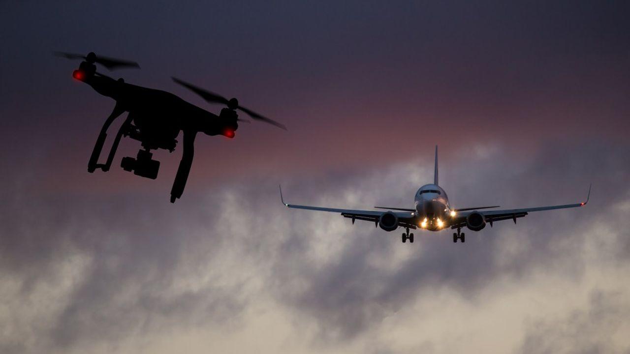 Le danger représenté par les drones pour les avions est croissant, selon des chiffres officiels du Royaume-Uni.