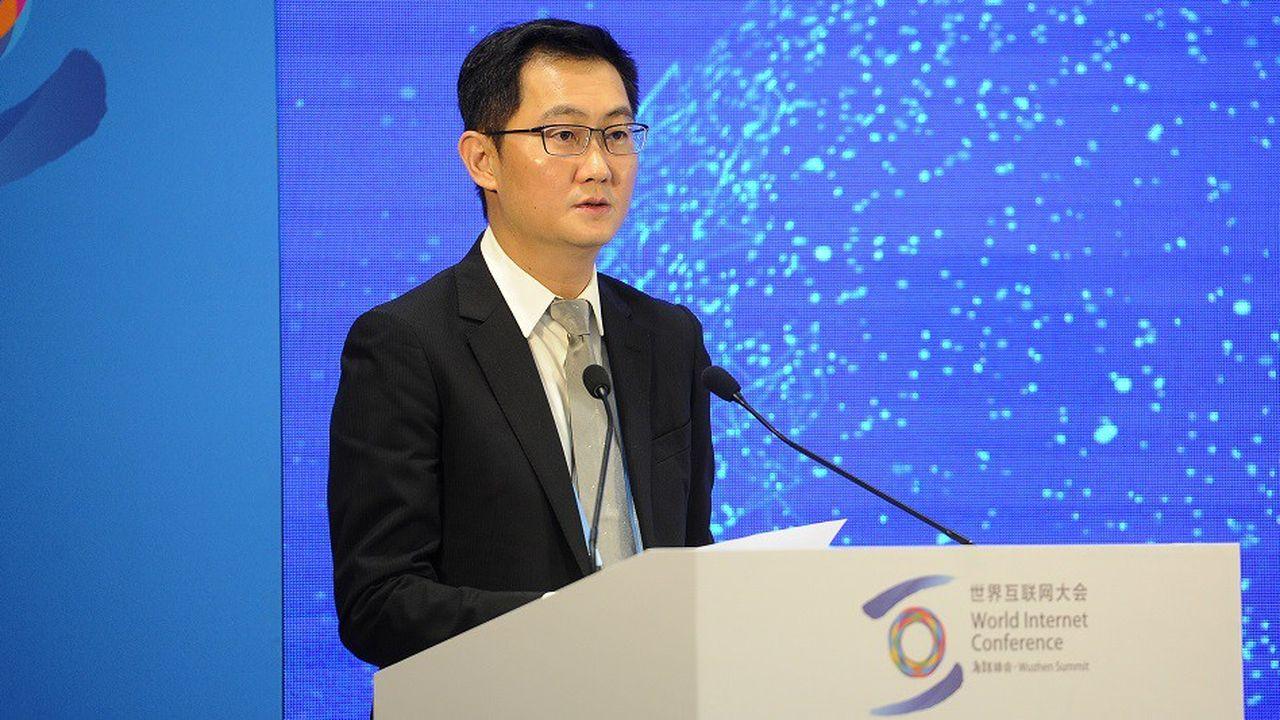 Le PDG de Tencent Holdings, Ma Huateng, le 8novembre 2018 lors de la 5e conférence mondiale de l'Internet