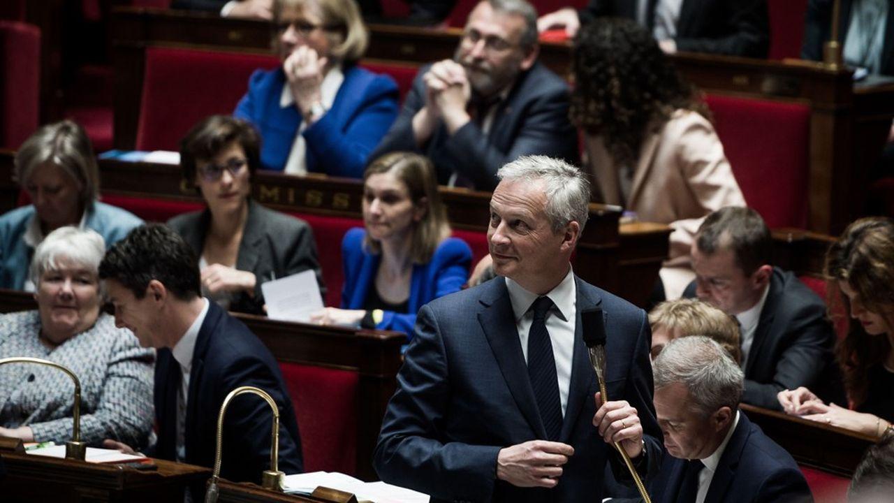 «Dès qu'il y aura une solution au niveau de l'OCDE, nous retirerons notre taxe nationale au profit d'une taxation internationale», a assuré Bruno Le Maire dans l'hémicycle.