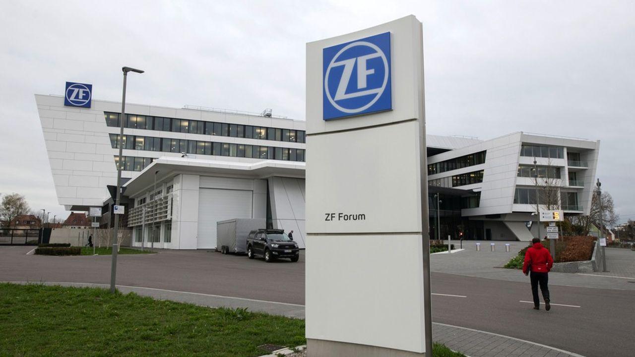 ZF structure la ville moyenne de Friedrichshafen au fil de ses multiples implantations, mais aussi des bâtiments sponsorisés par l'équipementier.