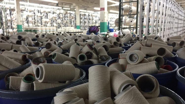 Le coton, qui vient essentiellement du Sud des Etats-Unis (Géorgie, Alabama, Mississippi), est filé puis tourné pour produire la toile de jean.