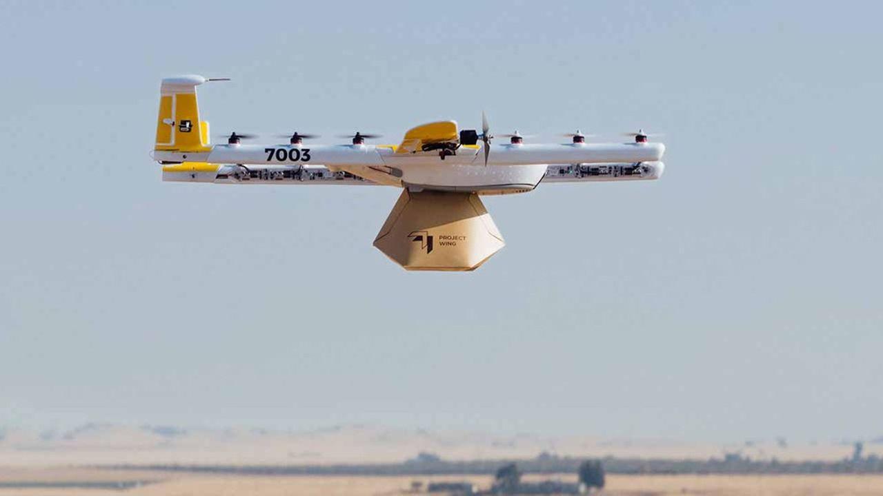 Un service commercial de livraison par drone est lancé — Wing (Alphabet)
