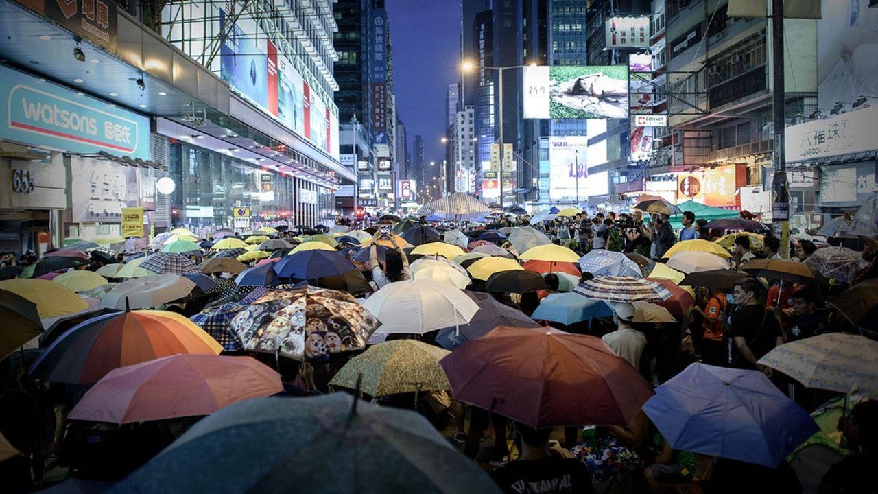 La «révolte des parapluies» a paralysé pendant plus de deux mois plusieurs quartiers de Hong Kong parmi lesquels «Central», le poumon des affaires de l'ancienne colonie britannique.