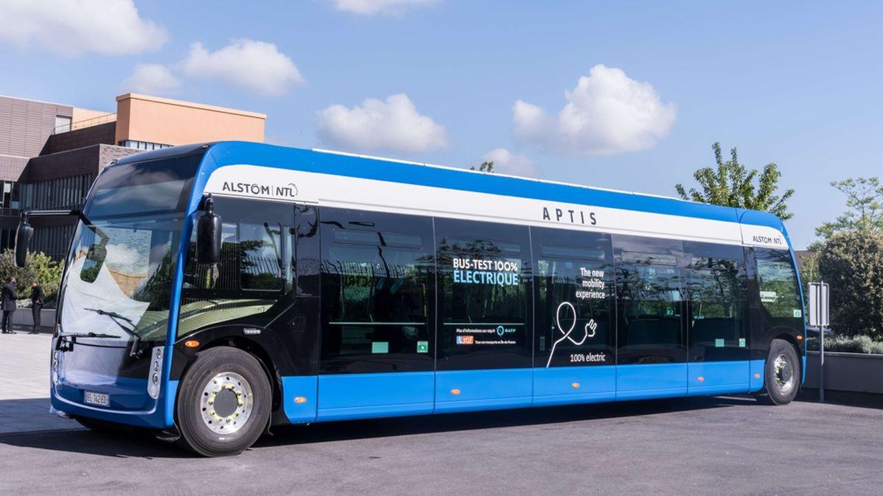 Fabriqué par Alstom, le bus Aptis fait partie des trois modèles choisis par la RATP pour sa première commande massive de bus électriques.
