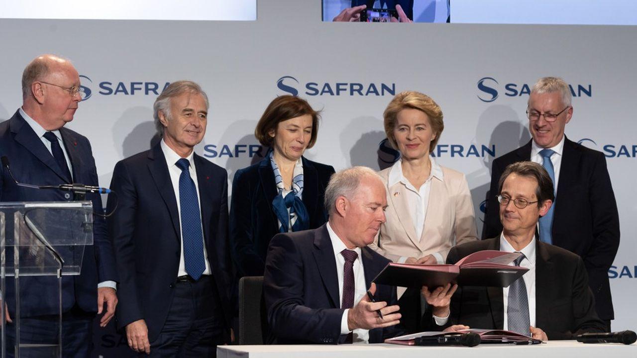Le premier contrat d'études pour un nouveau moteur d'avion de chasse franco-allemand a été signé chez Safran le 6février dernier