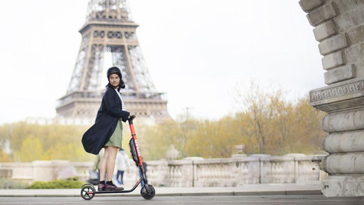 Uber est présent à Paris avec ses trottinettes via le service Jump.