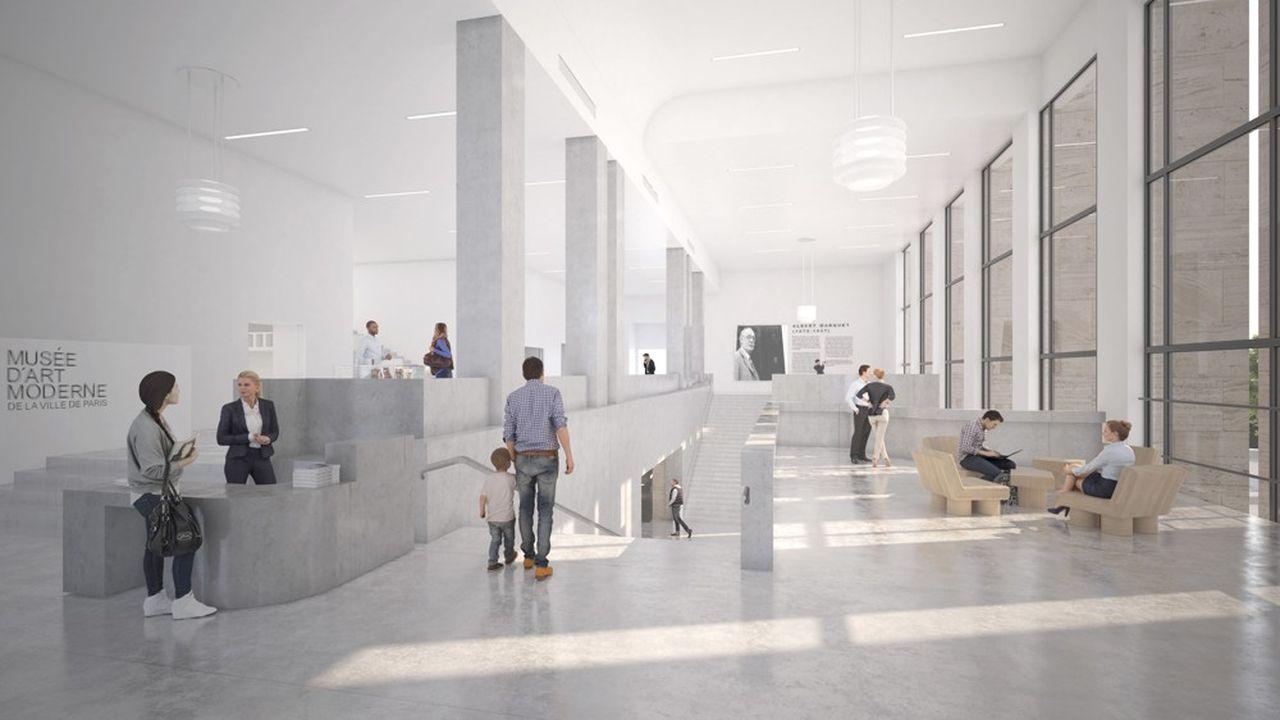 Futur hall dumusée d'Art moderne de la Ville de Paris.