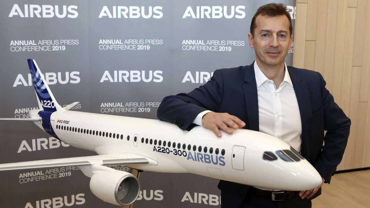 Le nouveau patron d'Airbus garde la main sur la branche aviation civile