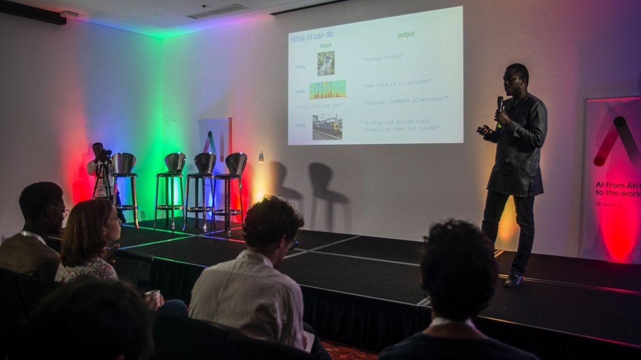 Moustapha Cissé, à la tête du centrede recherche en IA de Google au Ghana, va piloter une dizaine de chercheurs venus d'Israël, des Etats-Unis ou bien encore du Canada.