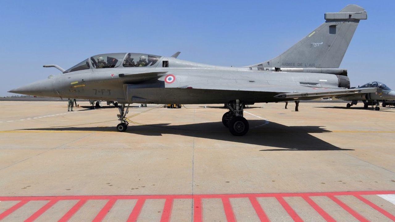 Un appareil Rafale au show aérien indien de Bangalore en février2019