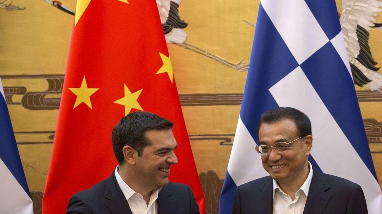 le premier ministre grec Alexis Tsipras et le chef du gouvernement chinois Li Keqiang vendredi à Dubrovnik.