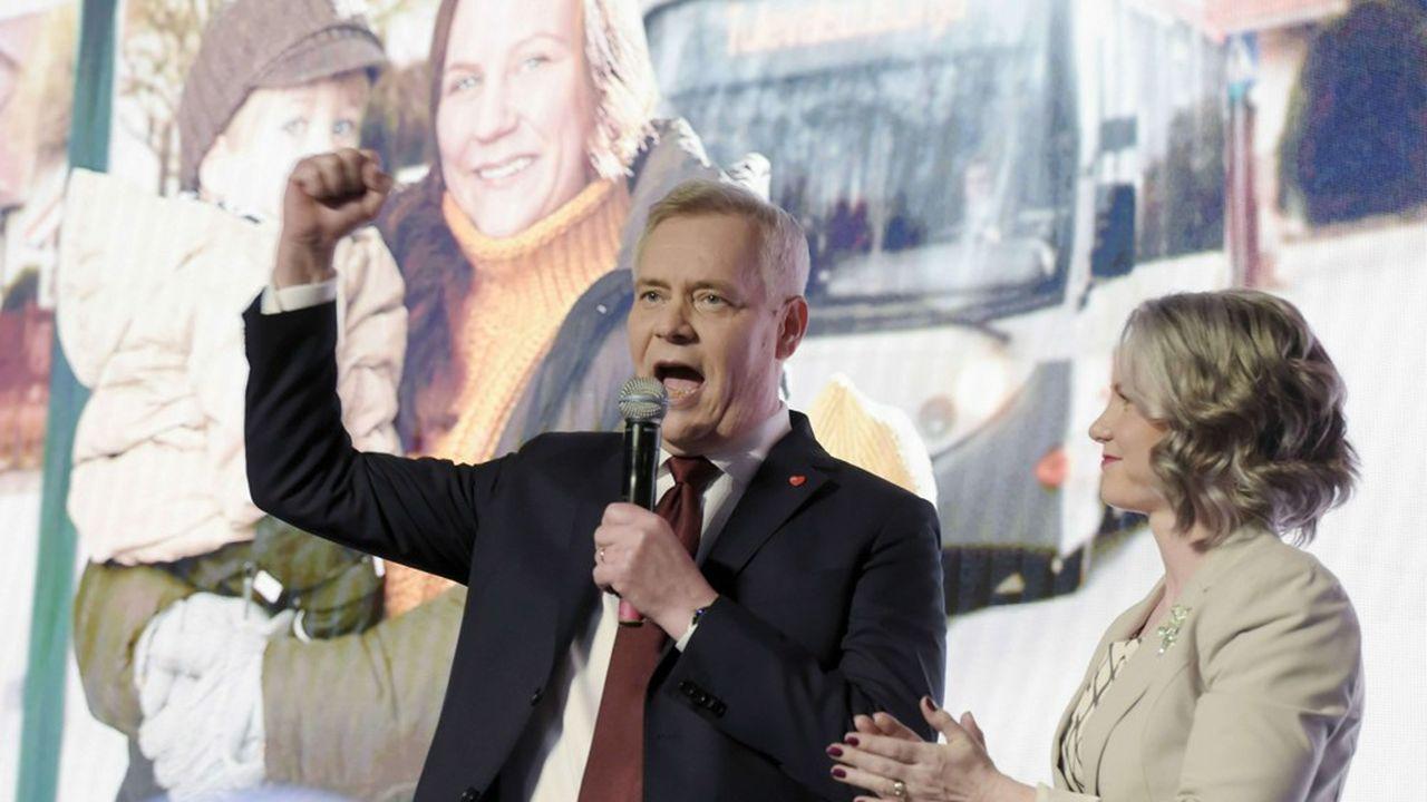 «Pour la première fois depuis 1999, nous sommes le plus grand parti en Finlande», s'est félicité Antti Rinne