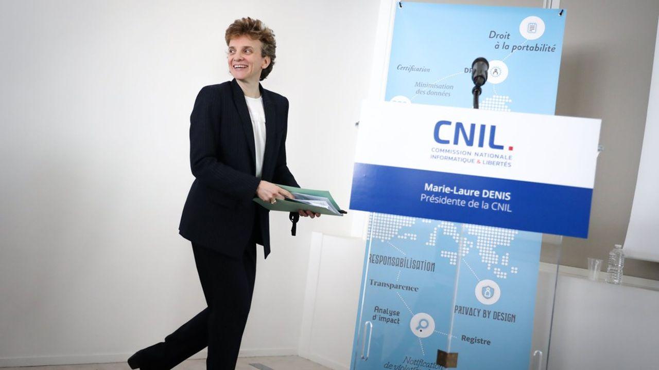 Marie-Laure Denis a succédé à Isabelle Falque-Pierrotin à la présidence de la CNIL en début d'année