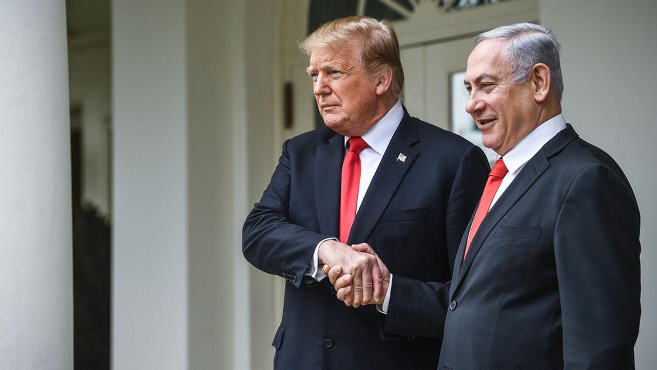 Le 25mars, à la Maison-Blanche, le président Donald Trump a, une nouvelle fois, apporté son soutien au Premier ministre Benyamin Netanyahou avant les élections en Israël.