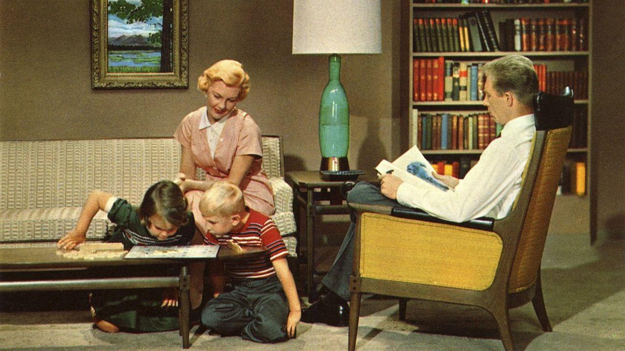 Une famille américaine, symbole de la classe moyenne des années 1960.