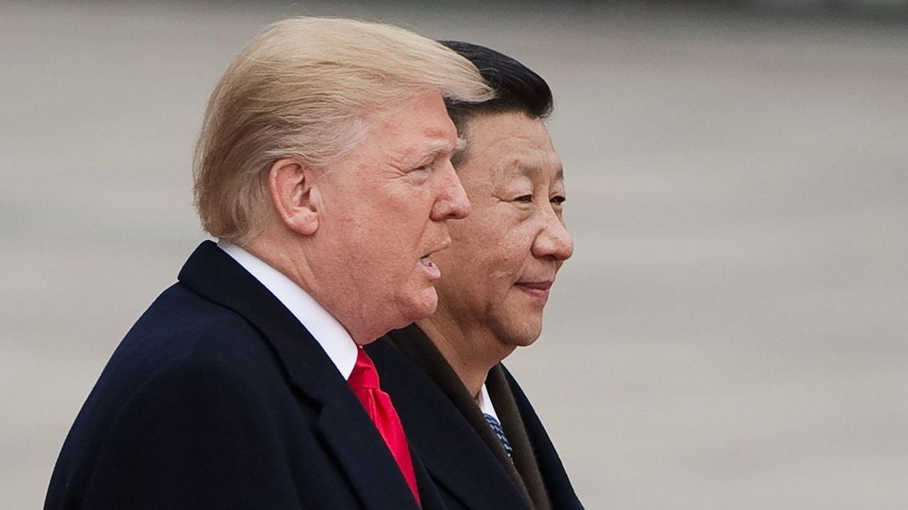 Les «meilleurs ennemis», Donald Trump et Xi Jinping, lors d'une cérémonie dans le Palais de l'Assemblée du peuple à Pékin, le 9novembre 2017.