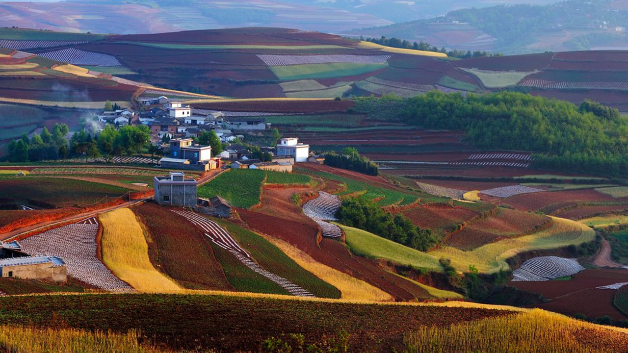 Un village dans la province du Yunnan, sud-ouest de la Chine.