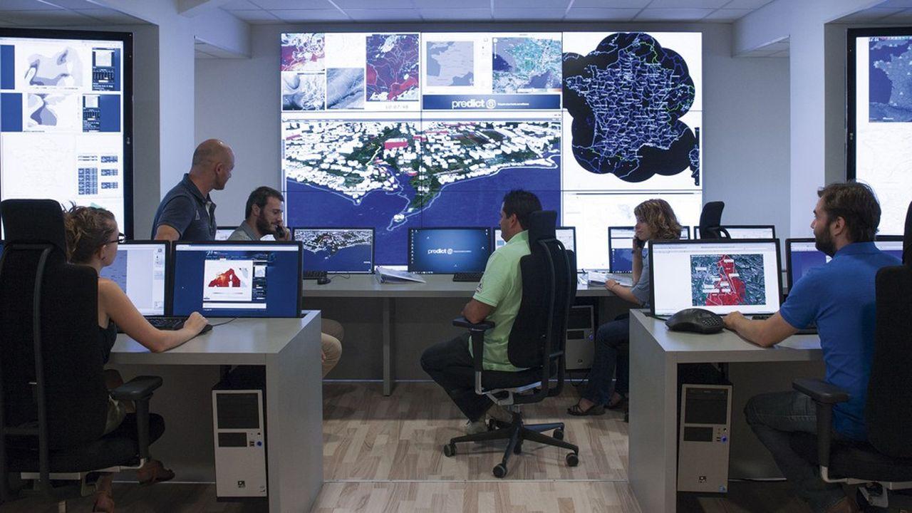 La société Prédictfait appel au traitement des images satellites et des modèles numériques de terrain pour étudier les intempéries.