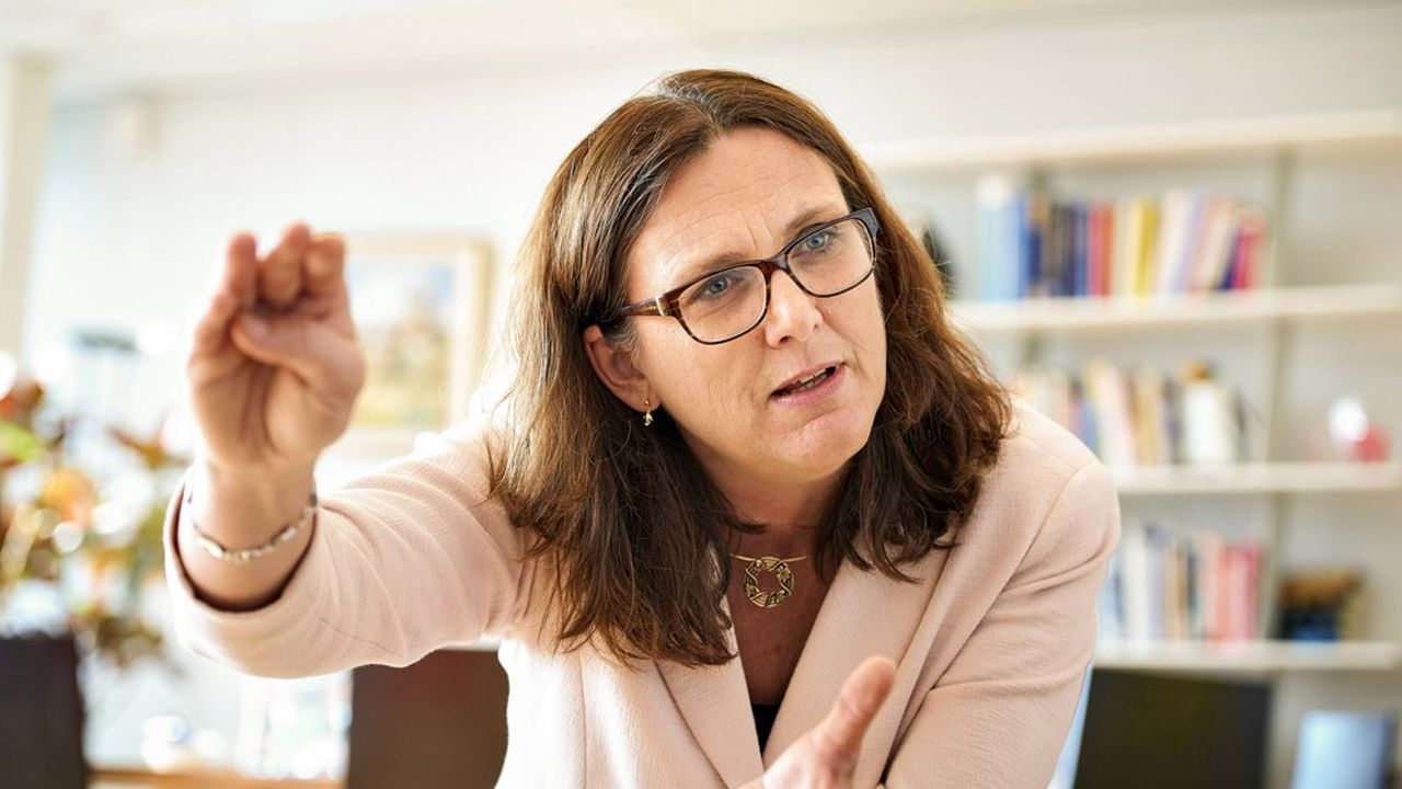 La commissaire européenne à la concurrence, Cecilia Malmström, à Bruxelles.