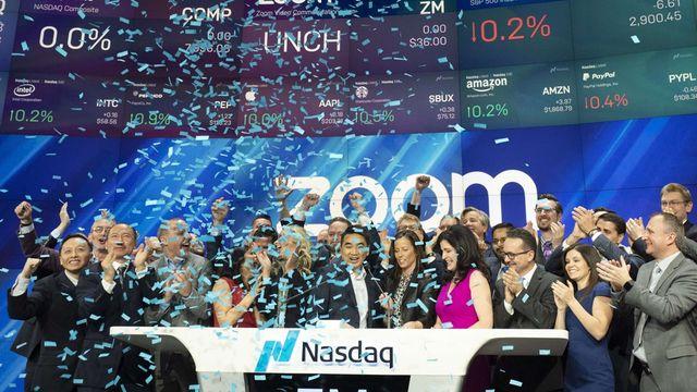 Zoom, la licorne des visioconférences, s'envole en Bourse