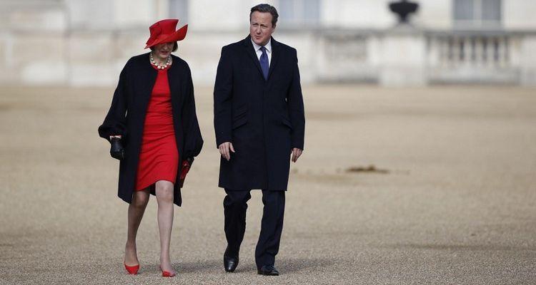 Theresa May et David Cameron, ici en octobre2015, sont tous deux passés par l'université d'Oxford.