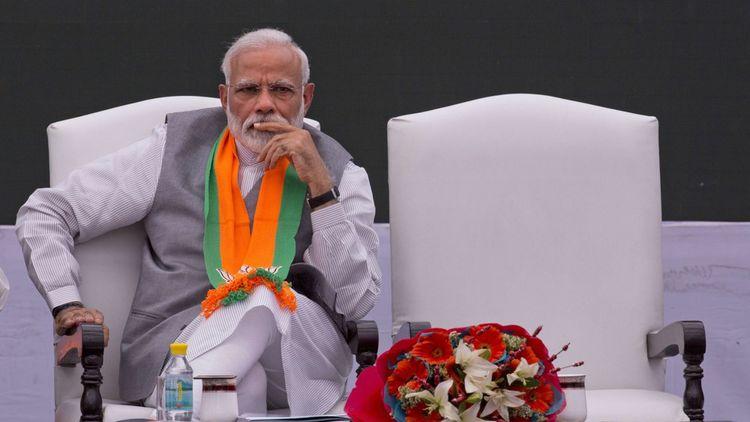 Narendra Modi avait promis de créer des millions d'emplois avant son élection en 2014. Ici en campagne le 8avril dernier à New Delhi.