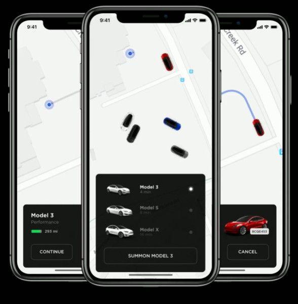 Une application sur smartphone permettra de commander sa Tesla comme n'importe quel VTC