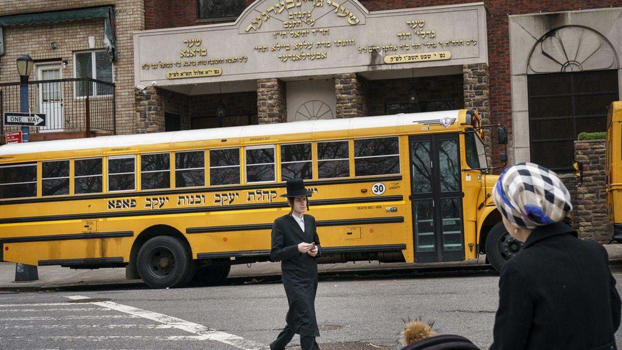La communauté juive orthodoxe de Brooklyn est particulièrement touchée par l'épidémie.