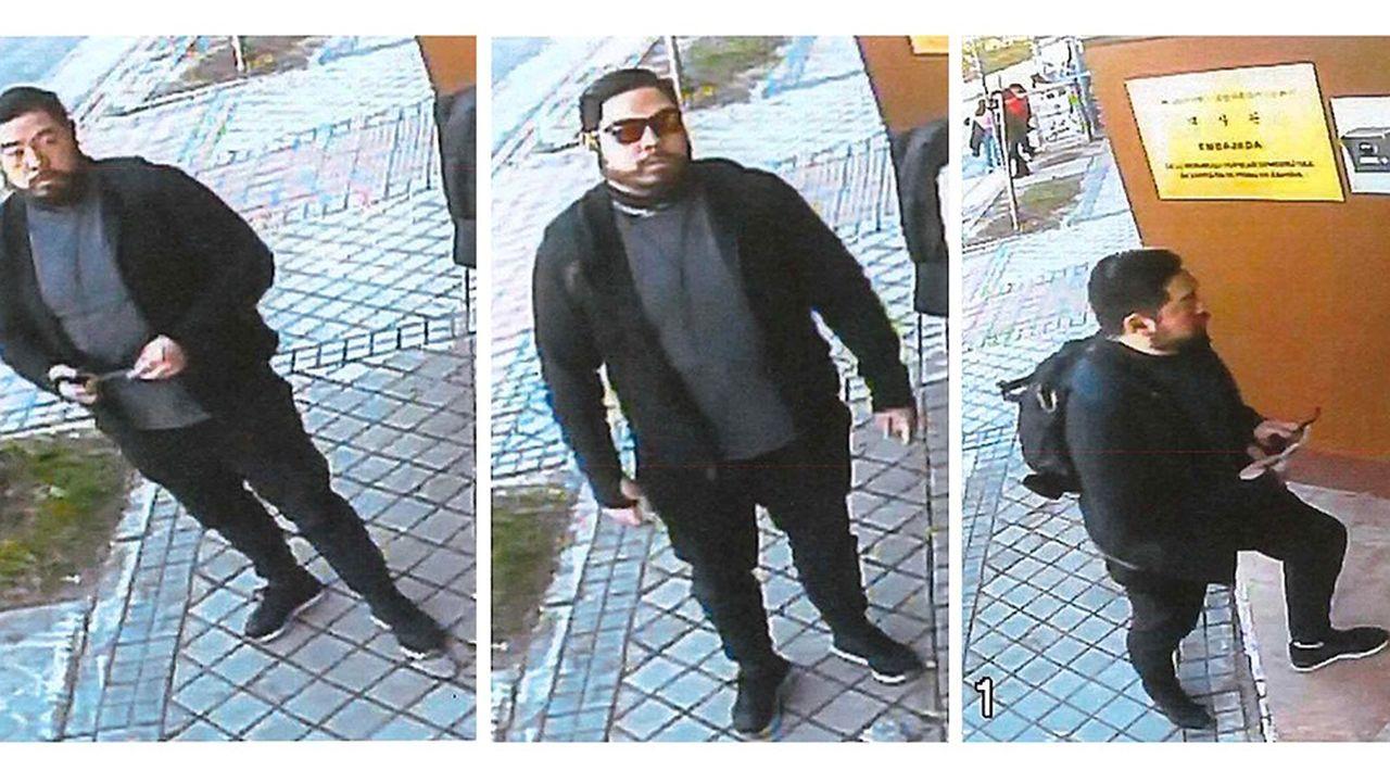 Ancien marine, Christopher Philip Ahn apparaît plusieurs fois sur les images enregistrées par les caméras de surveillances à l'entrée de l'ambassade de Corée du Nord à Madrid
