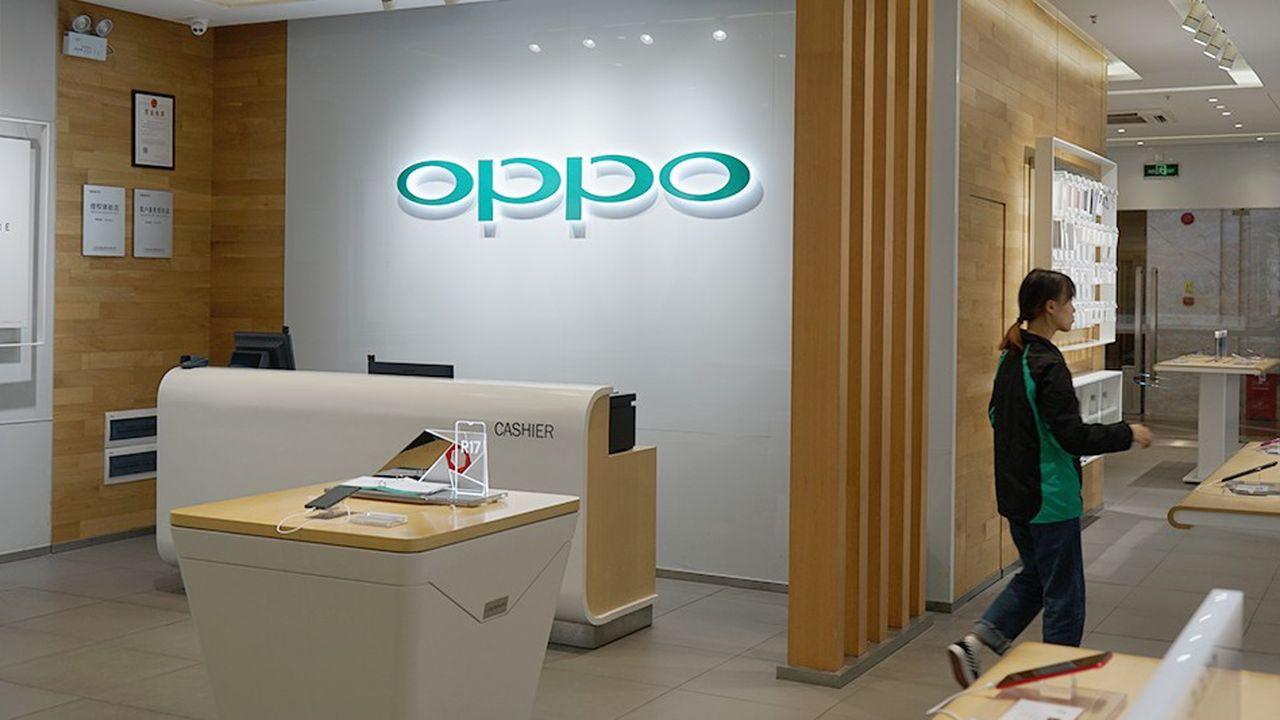 Né en2004 enChine, Oppo est le cinquième fabricant mondial de smartphones. Le groupe a écoulé en2018 plus de 116millions d'unités, selon Strategy Analytics.
