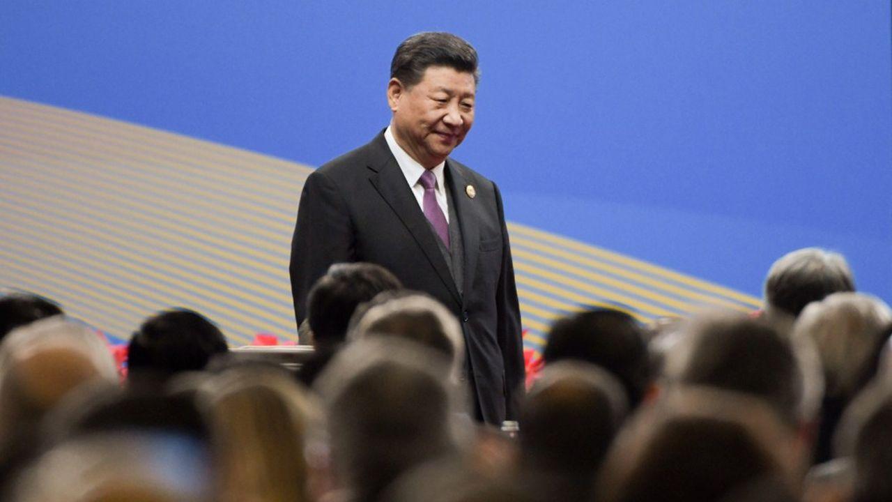 Xi Jinping au sommet d'ouverture des Routes de la soie en avril2019.