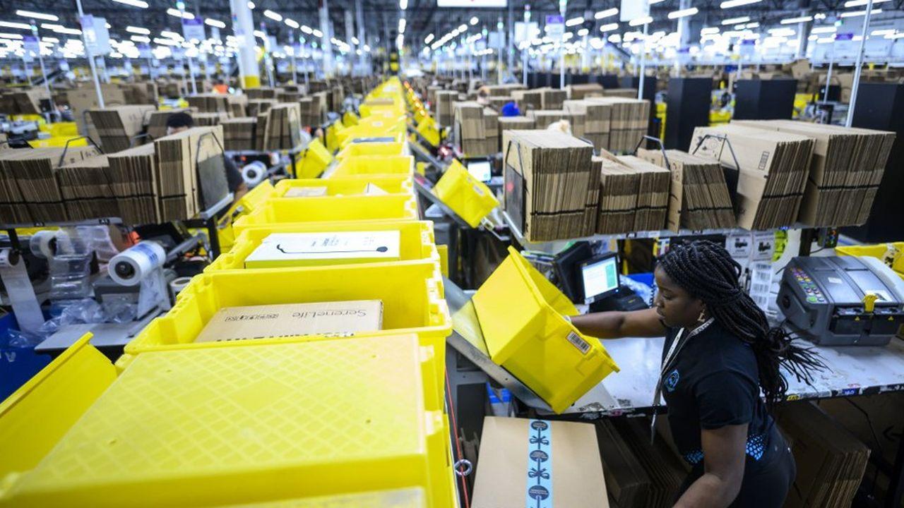 Un entrepôt Amazon près de New York, en février2019.