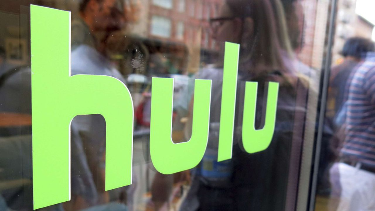 FILE - This June 27, 2015, file photo, shows the Hulu logo on a window at the Milk Studios space in New York. Movie fans can watch a variety of Oscar-nominated flicks online from their couches for a fee. A number of full-length movies and shorts nominated in various categories are available through an all-you-can-watch subscription - Netflix, Hulu, Amazon Prime or HBO Now. (AP Photo/Dan Goodman, File)/NYCD401/17047619600456/JUNE 27, 2015 FILE PHOTO/1702171949