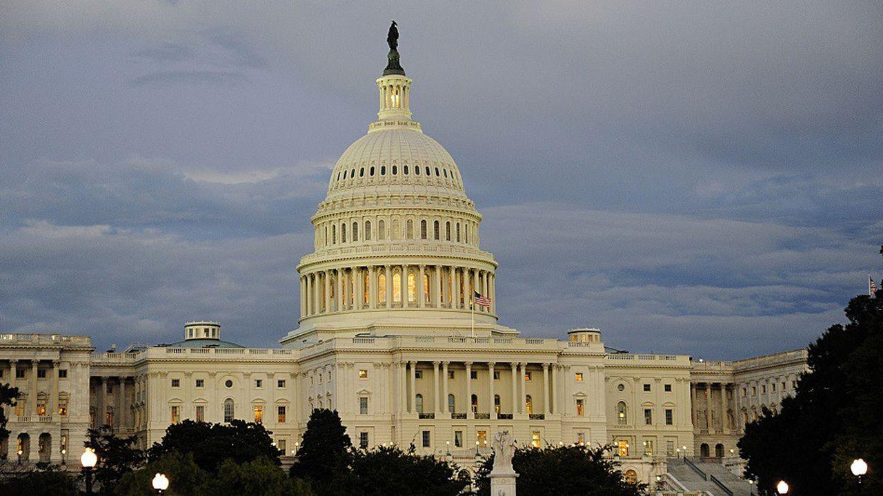 Le bâtiment du Congrès américain, où siègent le Sénat et la Chambre des représentants