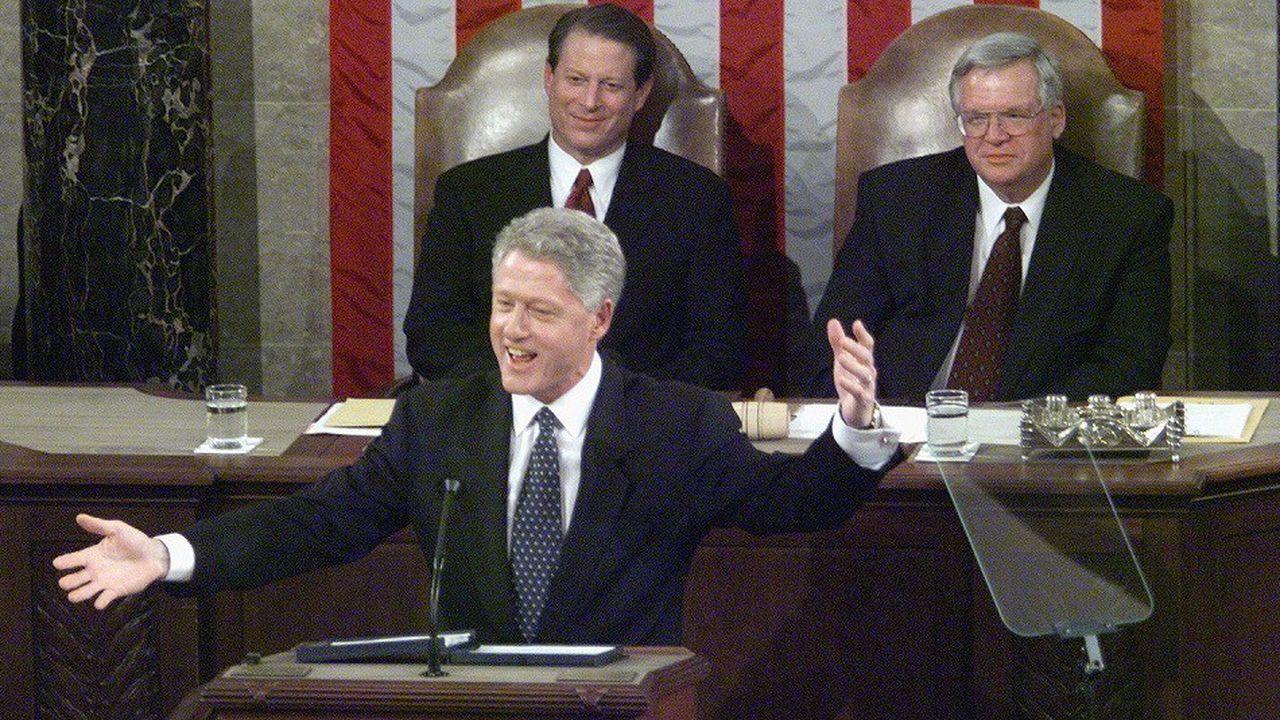 Bill Clinton est l'un des trois présidents dont le parti a remporté une victoire lors de «midterms», en 1998