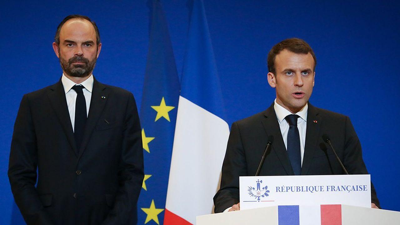 La cote de confiance d'Emmanuel Macron et d'Edouard Philippe tombe à 23% dans le baromètre Elabe pour «Les Echos» et Radio Classique, en baisse de 4 points sur un mois.