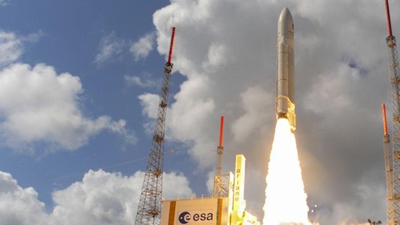 Le 17novembre 2016, le lanceur européen Ariane5 a envoyé dans l'espace quatre satellites de géolocalisation Galileo.