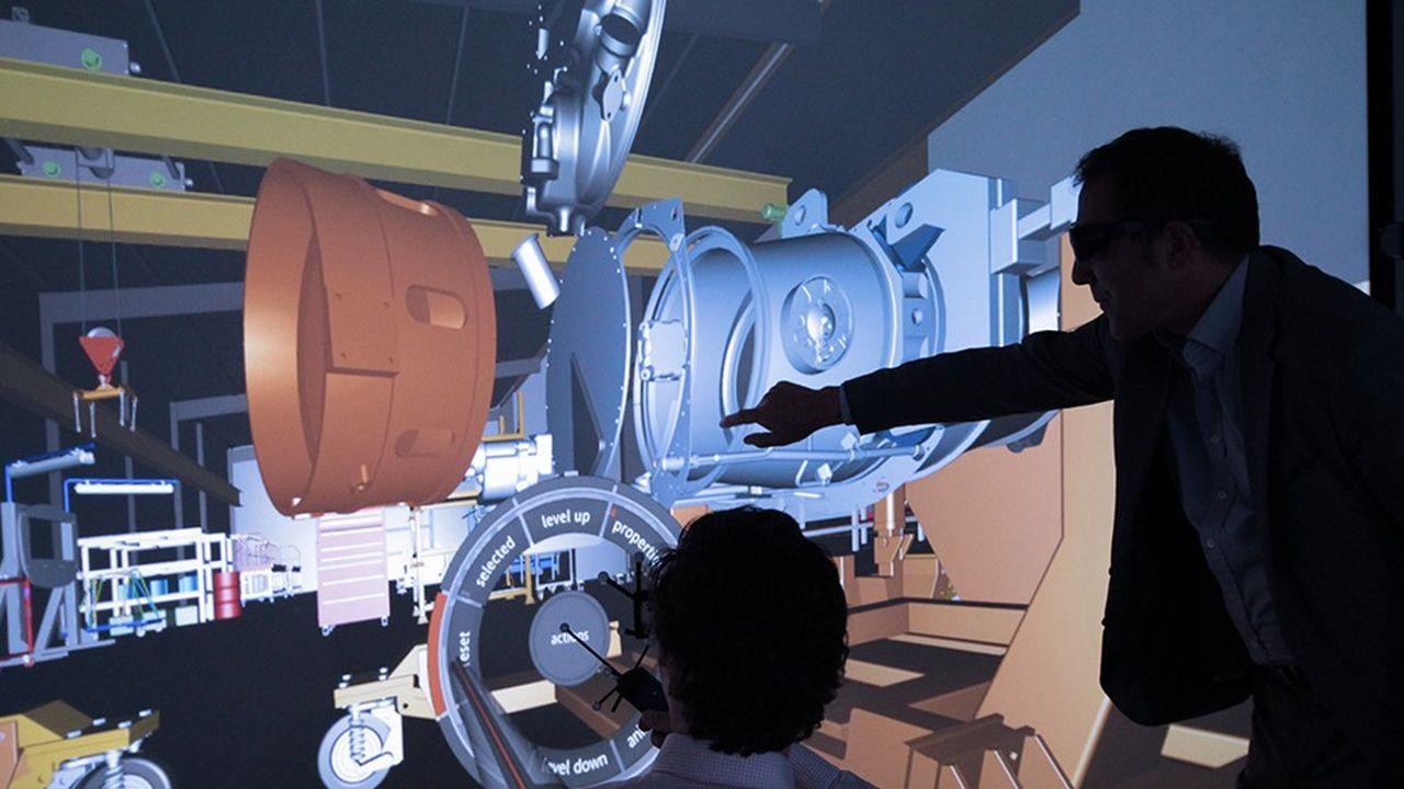 Depuis huit ans, Daher dispose de salles équipées de technologies de réalité virtuelle où ses ingénieurs conçoivent des produits et modélisent de futurs processus logistiques complexes.