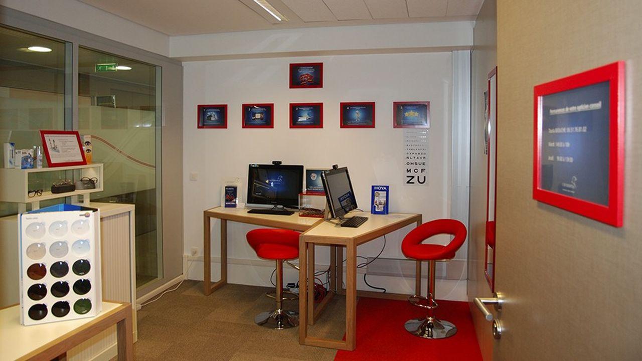 Les collaborateurs du siège de Gras Savoye, à Puteaux, ont accès à un opticien dans les locaux.