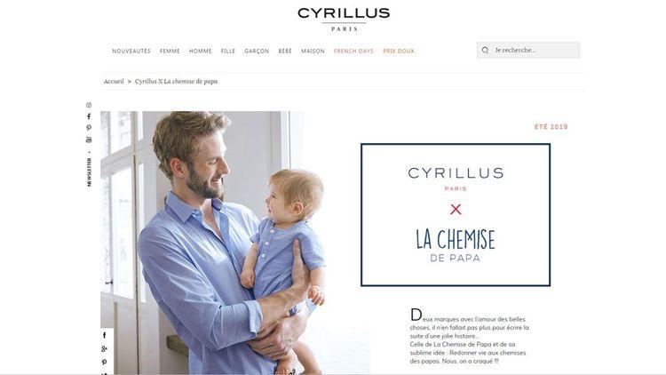 Reconfectionnée dans des ateliers en France, une chemise d'homme Cyrillus peut se transformer en robe de bébé ou en barboteuse.