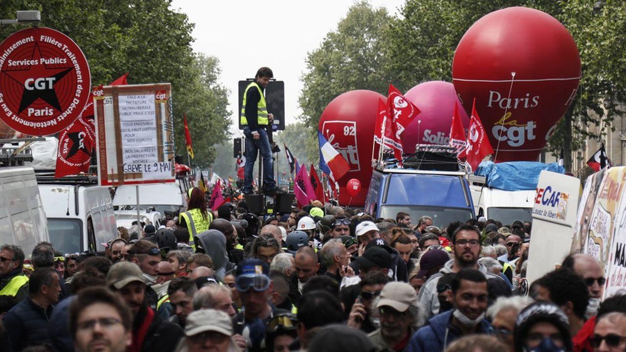 Le cortège parisien est parti, finalement comme prévu, à 14h30 de place Montparnasse