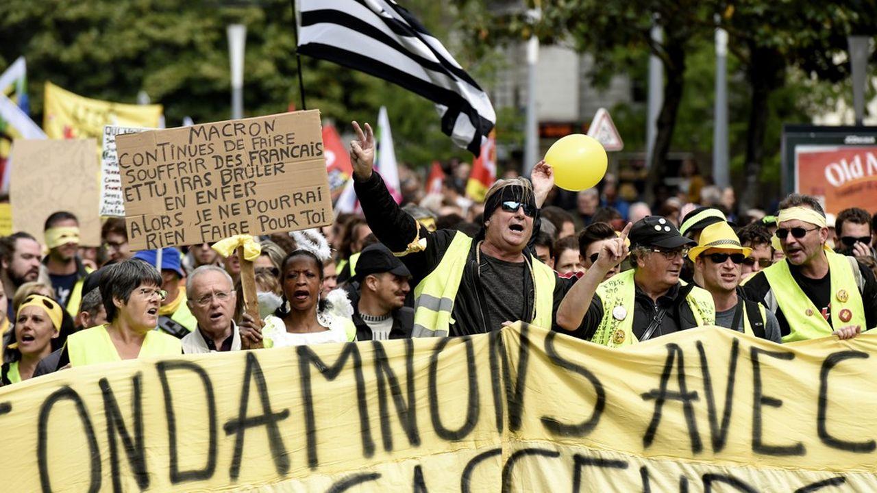 Une manifestation de « gilets jaunes », le 1er mai à Nantes (Loire-Atlantique).