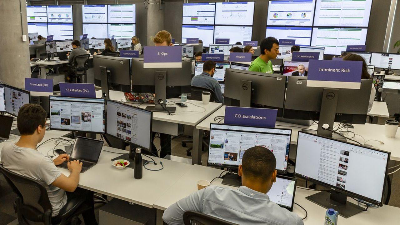 La «war room» compte quarante ingénieurs, data scientists et autres spécialistes des données.