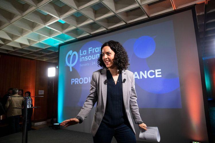 Manon Aubry, la tête de liste de La France insoumise.