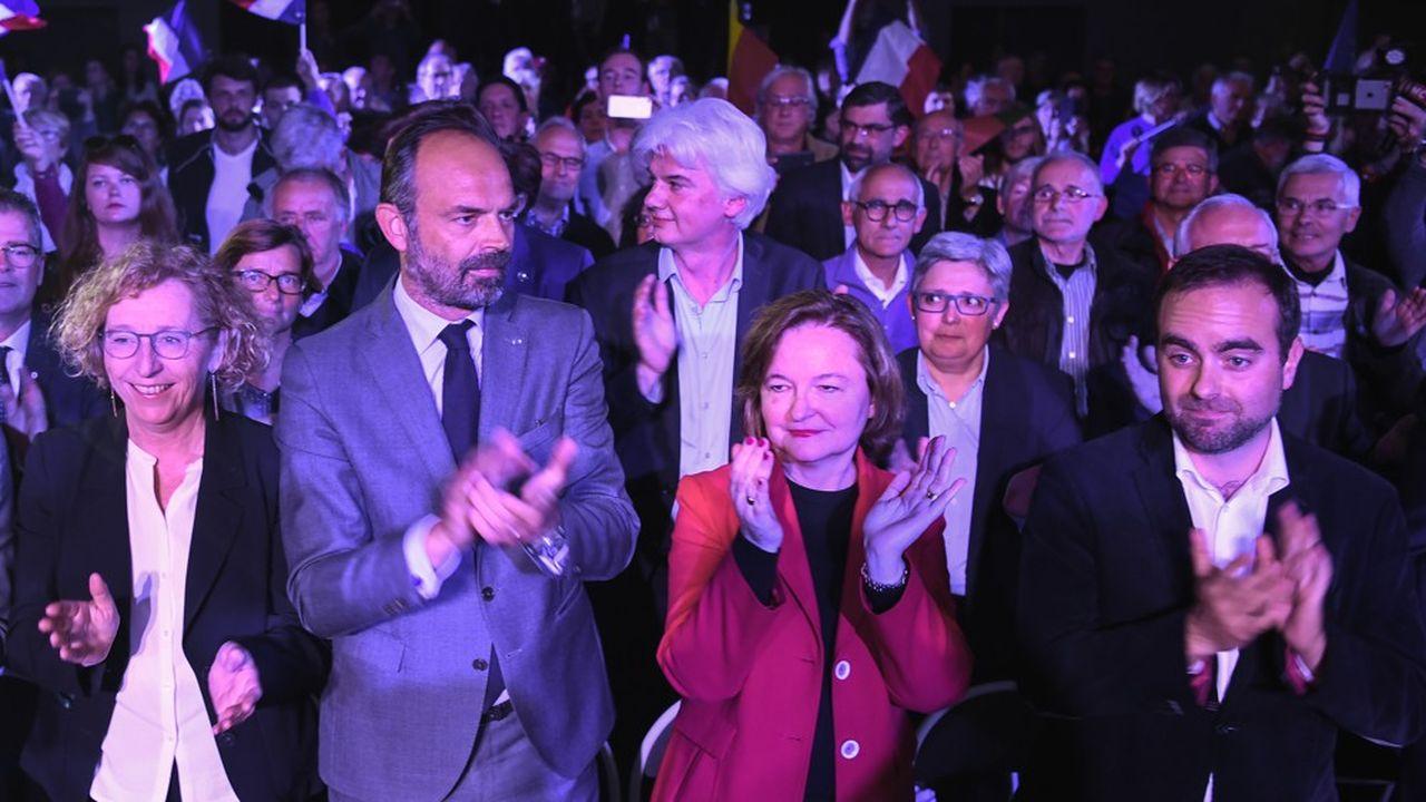 Edouard Philippe et Nathalie Loiseau tenaient ensemble lundi soir une réunion publique à Caen pour les élections européennes.