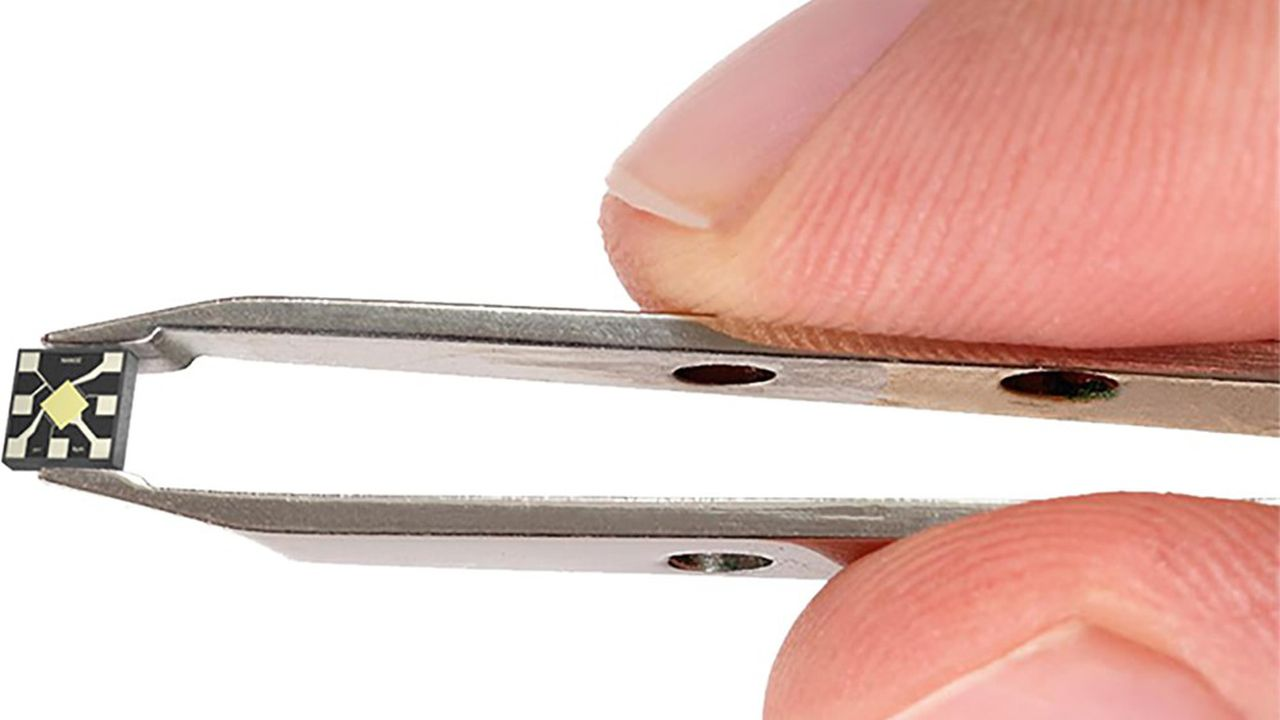 Le nanocapteur de Nanoz, qui mesure moins de 2millimètres de côté, sera fabriqué chez IBS en Provence.