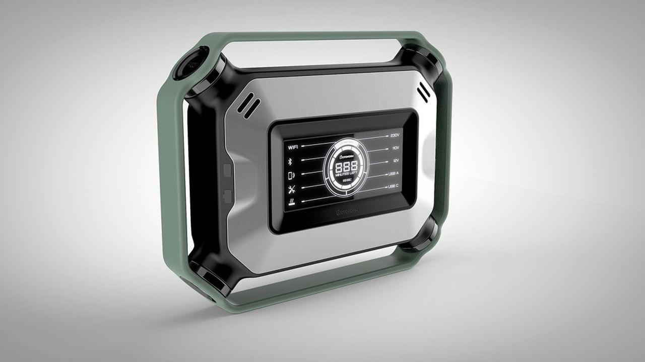 De petite taille: 45cm de longueur, 35cm de hauteur et 15cm d'épaisseur, cette batterie baptisée «Basecamp» pèse moins de 10 kilos.