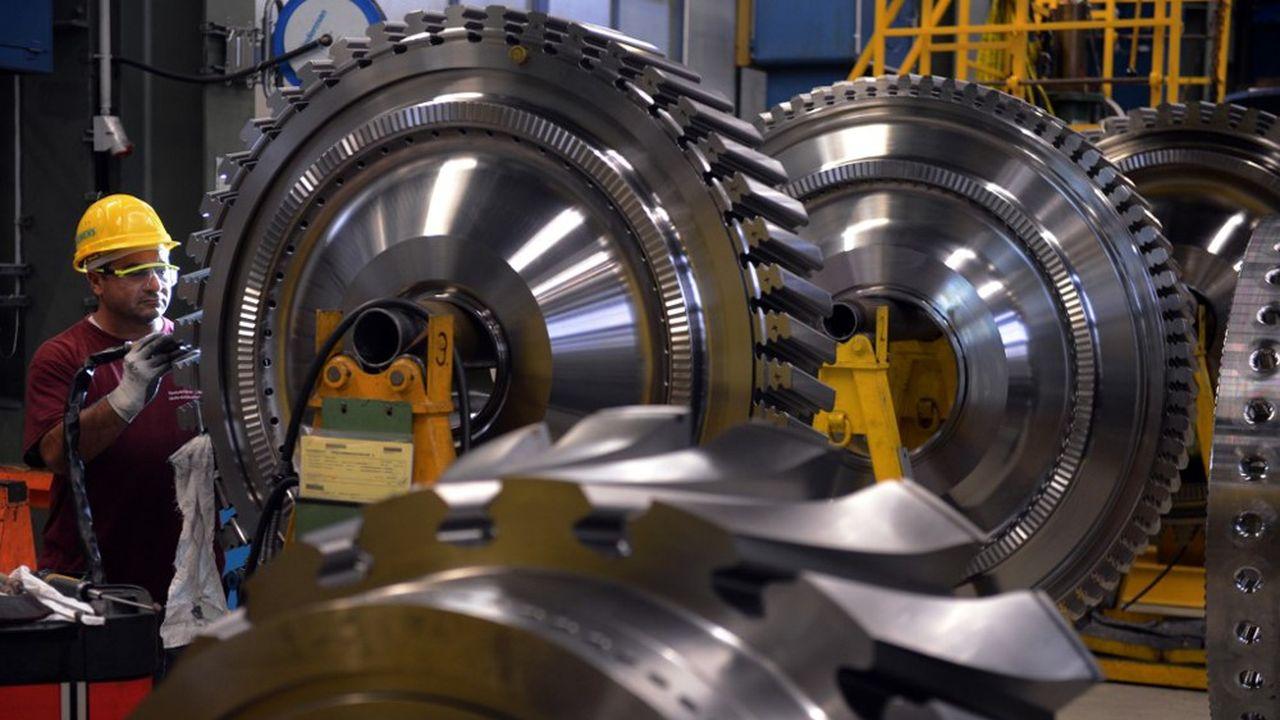 Dans une usine de turbines de Siemens, près de Berlin.