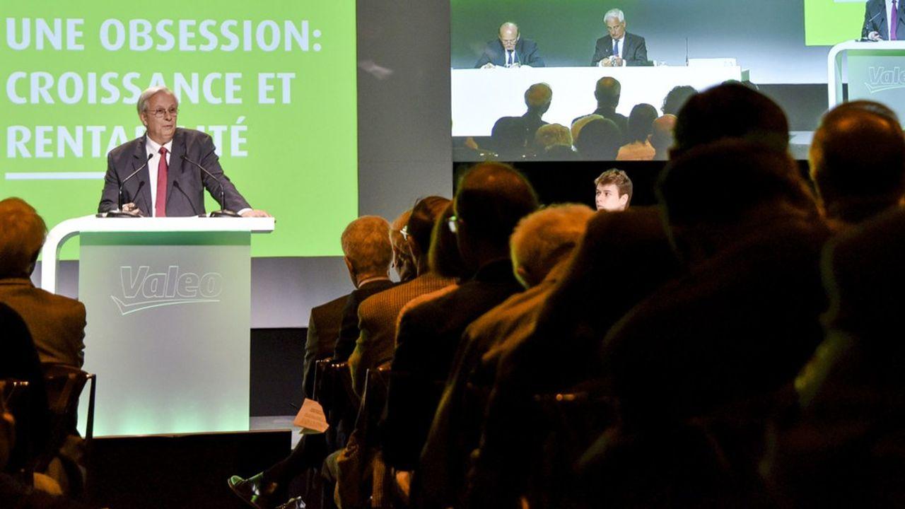 Jacques Aschenbroich, le président directeur general (PDG) de Valeo, lors de l'assemblée générale du groupe en 2015.